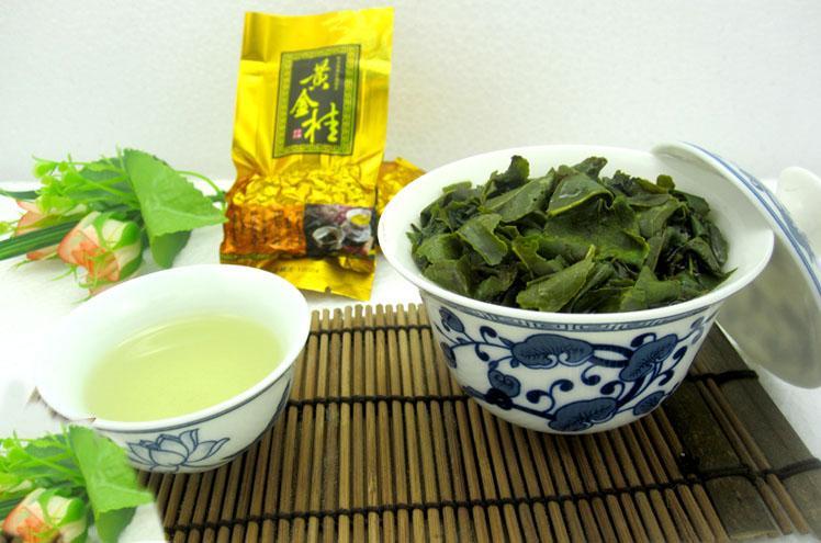 黄金桂茶叶品鉴汤色金黄明亮,有花朵的香味,香气扑鼻