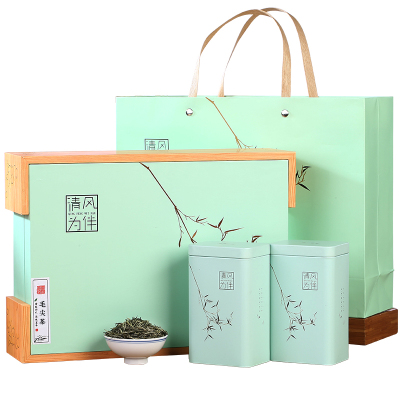 送礼礼品信阳绿茶毛尖茶叶新茶特级浓香型高档精品2020礼盒装250g
