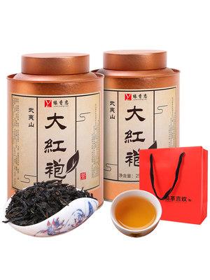 新茶武夷山大红袍茶叶礼盒装肉桂浓香型散装乌龙茶罐装水仙茶