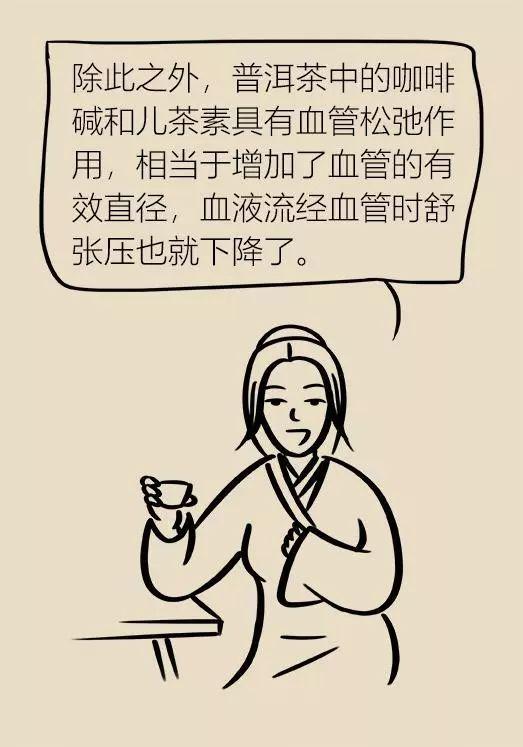 漫画普洱茶的功效