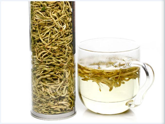 花茶中的天然抗菌素金银花茶