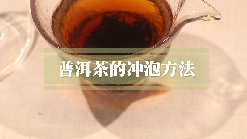 冲泡普洱茶方法