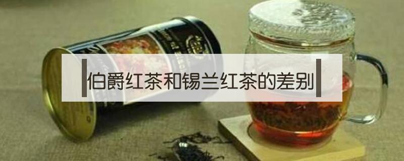 伯爵红茶和锡兰红茶的差别
