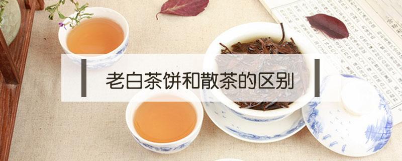 老白茶饼和散茶的区别