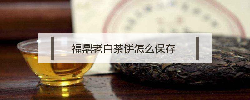 福鼎老白茶饼怎么保存