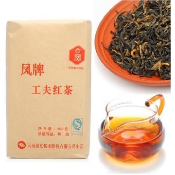 凤牌滇红茶 工夫红茶 500克/袋