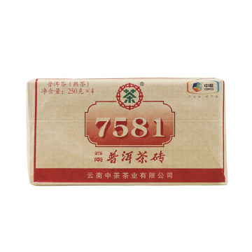 2018年中茶 7581简装 熟茶 250克/砖