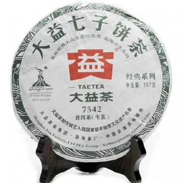 2010年大益七子饼生茶 7542 357克/饼