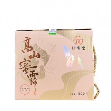 2018年妙贡堂 高山蜜露 白茶(白牡丹) 500克/提
