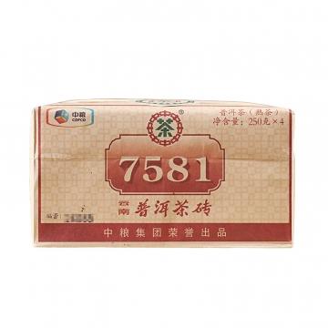 2017年中茶 7581 四片装 熟茶 1000克/包