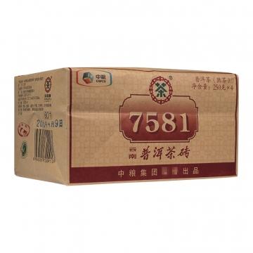 2016年中茶 7581 四片砖 熟茶 1000克/包