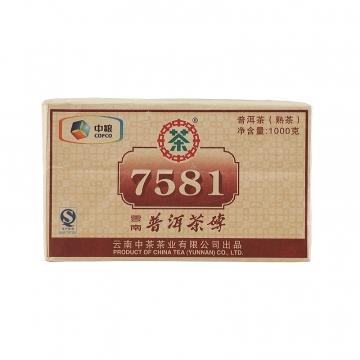 2011年中茶 7581 四片装 熟茶 1000克/包