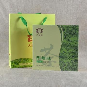 大益 普知味生茶礼盒 357克/饼