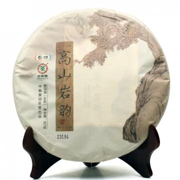 2014年中茶牌 高山岩韵 普洱生茶 357克