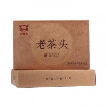 2016年大益 老茶头 1601批  熟茶 280克/盒