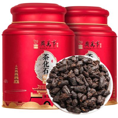 茶化石云南普洱茶熟茶糯米香茶老茶头散茶叶碎银子500克罐装送礼