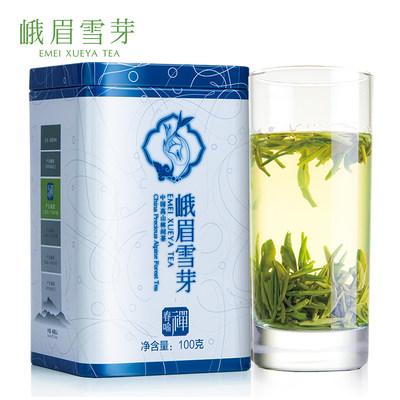 峨眉雪芽春喻禅100g春茶四川特产高山毛尖绿茶叶罐装